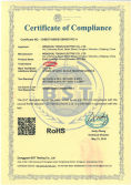 RoHS Certificate of Residual Current Circuit Breaker