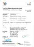 DIN-DVGW type examination certificate