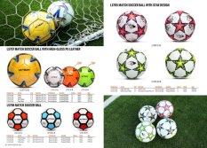 Match Soccer Ball with High-Gloss PU Leather and Star Design