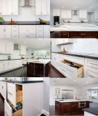 Popular Simple White Solid Wood Shaker Style Kitchen Cabinet