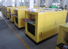 Water-cooled generator on producing