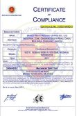 CE certificate of excavators