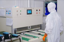 Hot pressing-Touch screen production process