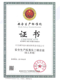 Work afety Standardization CERTIFICATE
