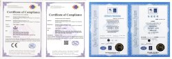 Quality certification ISO & CE