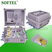Softel SR814BR FTTx 45/87 ~ 750/862Mhz 4 Output Fiber Optical Node, Outdoor CATV Optical Node with R
