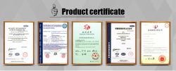 Hydraulic Press Product Certificate