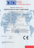 CE certificate for concrete test hammer