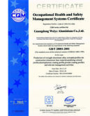 Certificate of Health & Safety Management