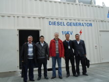with Russia Clients 2MW Perkins Diesel genset