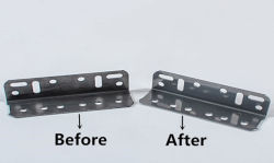 steel stamping parts before and after polishing