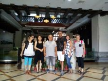 Israeli customers visit 9Fang roof tiles Cultural Center