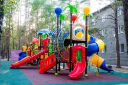 large animal style outdoor playground equipment