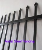 Black Coated Garrison Fencing Panel