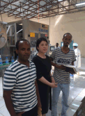 King Machine Representative Visit Customer Factory in Africa