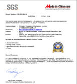 SGS Report of VY Optics by Made-in-China