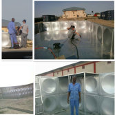 Welder in Africa for water plant (100M3 raw water tank)