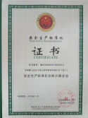 Certificate for Standard production process