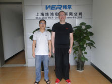 One clients come from America to view our uv flatbed printer