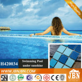 Swimming Pool Ocean Blue Glass Mosaic (H420034)