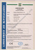 CE Certificate for Panic Button in 2012