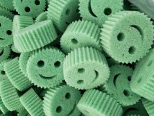 smile face kitchen washing sponge