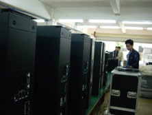CA2812a active line array testing on production line