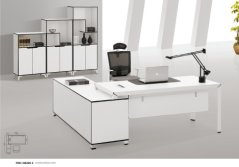 FOH Modern Custom Design White E1 MFC Executive Office Table