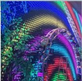 led video curtain RGB video curtainlight