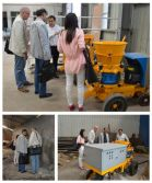Bengal customer visit factory for wet shotcrete machine