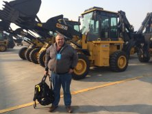Australia Client visit for Backhoe Loader