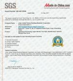 SGS certificate for company