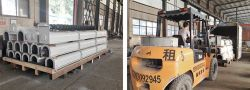 Screw Conveyor Ordered by Singapore Client was Delivered to Qingdao Port