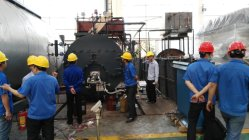 New product industrial condensed steam boiler has been tested