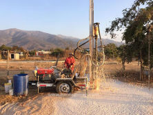 HF120 Water Well Drilling Rig In Chile Work Site.