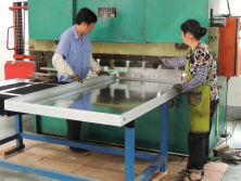 production of flat plate solar collector