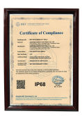 IP68 Waterproof certification