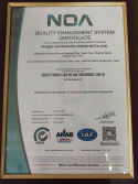 Quality Management Systen Certificate