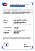 CE certificate for Panel