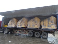 4units 500L Diesel Concrete Mixer loaded in one 40HQ container