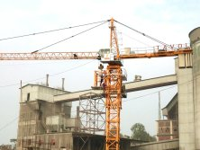 Model 5010 Tower Cranes Project in Bangladesh Cement Factory