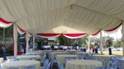 15x25m wedding tent with roof lining in Malaysia