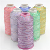 multicolored thread