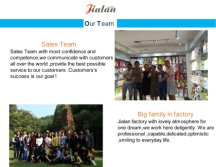 Jialan Package - sales team & production team