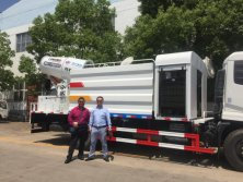 Customer Visiting for city disinfection truck