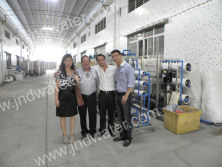 Columbia customer in our factory