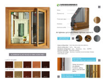 aluminum wood cladding sreen window