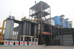 Two stage hot type coal gasifier plants