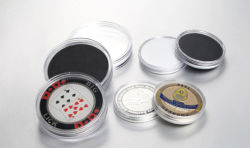 Plastic Clear Capsule Box for Challenge Coin