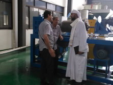 Customer from Saudi Arabia visiting for PE film recycling machine